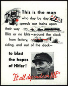 It All Depends On Me (Industrial Propaganda Cards) 1942