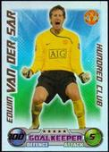 Match Attax Extra 2008/09 100 Club Edwin Van Der Sar  (blue back) 2009