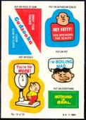 Put on Stickers (Including all Varieties) 1992