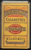 Gold Flake (17 Prize Medals Back) empty 10s cigarette packet c1940