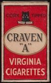 Craven A empty 10s cigarette packet c1940