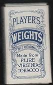 Weights (Ornate design, WhiteBackground) empty 10s cigarette packet c1940