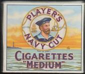Navy Cut empty 20s cigarette packet Sailors Head Motif c1940