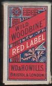Wild Woodbine Red Label empty 10s cigarette packet c1940