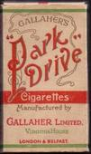 Park Drive (Red band around packet) Empty 10s cigarette packet c1940