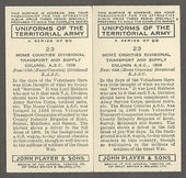 Uniforms of the Territorial Army 1939The error and corrected cards of number 23