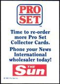 Advertisement Card Time to Re-Order 1991