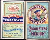 Navy Cut empty 10s cigarette packet Sailors Head Motif Back Virginia Tobacco c1940