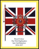 Infantry Regimental Colours The Argyll and Sutherland Highlanders Error printing yellow border 1st series 2008