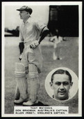 Cricket Cards (from Photocards Series Z) 1937