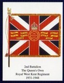 Infantry Regimental Colours The Queens Own Royal West Kent Regiment 2005