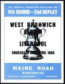 West Bromwich Albion F A Cup 1968 Programme Covers 2007