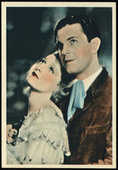 Film Stars No. of a Series of 24 cards Postcard Format Back 1934
