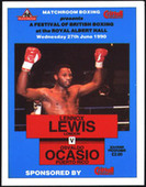 Lennox Lewis Programme Covers 2006