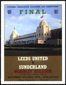 Sunderland F. C. F A Cup Winners 1973 Programmes Covers 2007