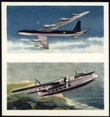 Aircraft of the World 1958 (two pictures per card 25 subjects)