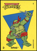 Teenage Mutant Hero Turtles stickers 1990