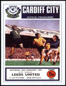 Leeds United F.C. F.A. Cup Winners 1972 Programme Covers 2007