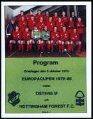 Nottingham Forest FC European Cup Winners 1980 Programme Covers 2006