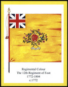 Infantry Regimental Colours The Suffolk Regiment 2nd Series Error printing light yellow border 2008