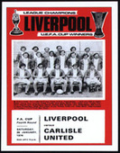 Liverpool F.C. FA Cup Winners 1974 Programme Covers 2008