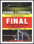 Arsenal FC F.A. Cup Winners 1971 Programme Covers 2006