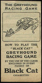 Greyhound Racing Game 1926 Instruction Leaflet
