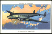 History of Aviation 1952 (25 different cards from the set of 50 minus numbers 1 to 16, 18 to 25 and 27)