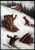Out In All Weathers Cats by Louis Wain Series LW8 2009