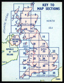 Illustrated Map of the British Isles Key Card 1959