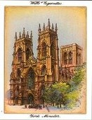 Cathedrals (7 different cards from the set of 25) 1933 reprint 2000