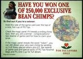 PG Tips Bean Chimp with Multi Coloured Circle 2001