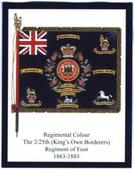 Infantry Regimental Colours The Kings Own Scottish Borderers 2nd Series (includes errors & two number 3s but no number 4) 2013