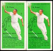 Tennis The error and corrected cards of number 24 1936