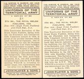 Uniforms of the Territorial Army 1939The error and corrected cards of number 21