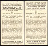 Uniforms of the Territorial Army 1939The error and corrected cards of number 26