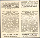 Uniforms of the Territorial Army 1939The error and corrected cards of number 18